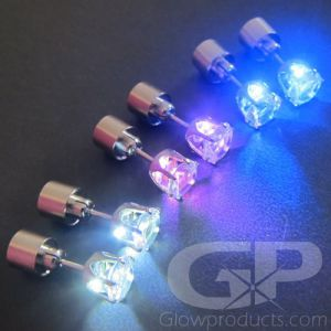 Glowing Earrings with LED Lights