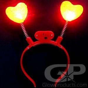 Light Up Heart Headband Bopper