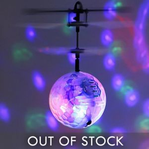 Hand Helicopter Flying Disco Ball Glow Toy