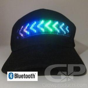 Light Up Message Hat Smartphone Bluetooth