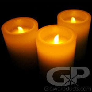 Flameless 4 Inch LED Pillar Candles