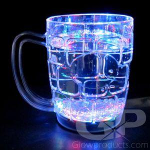 Light Up Beer Mugs with Flashing LED Lights