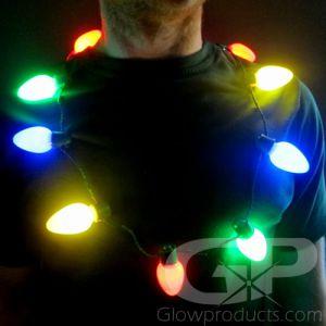 Christmas light necklace