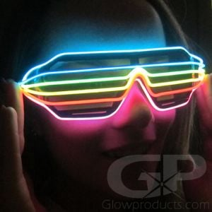Light Up Glasses Rainbow Shutter Shades