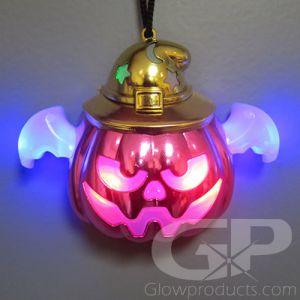 Light Up Pumpkin Halloween Glow Necklace