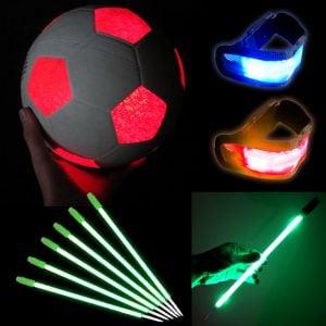 Light Up Glow Soccer Sports Set