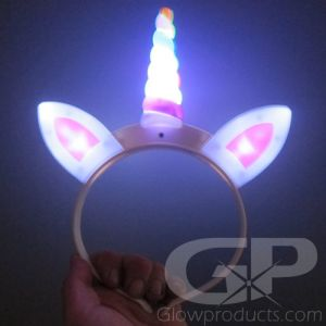LED Light Up Unicorn Horn Headband