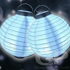 White Glowing LED Paper Lanterns