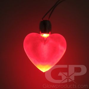 Glowing Heart Necklace Pendant