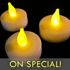 Flameless LED Tea Light Candles on Special Discount