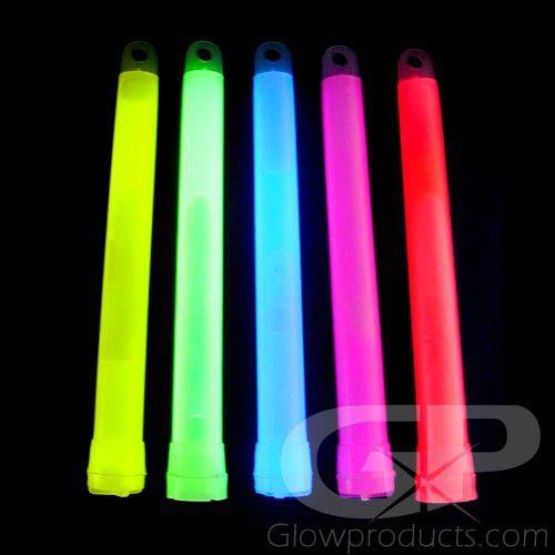 6 Bulk Glow Sticks Orted Colors