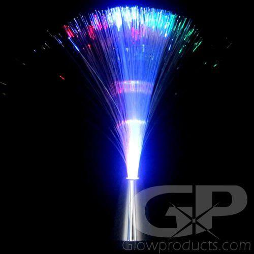 Glowing Fiber Optic Lamps