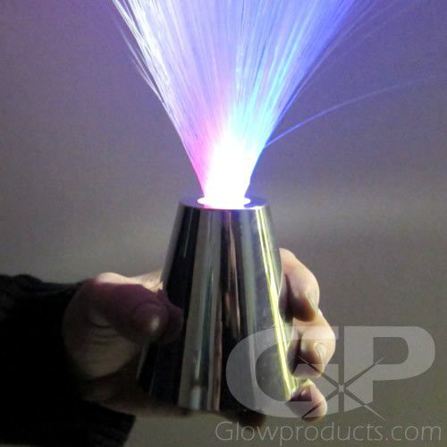 Fiber Optic Lamp With Silver Base