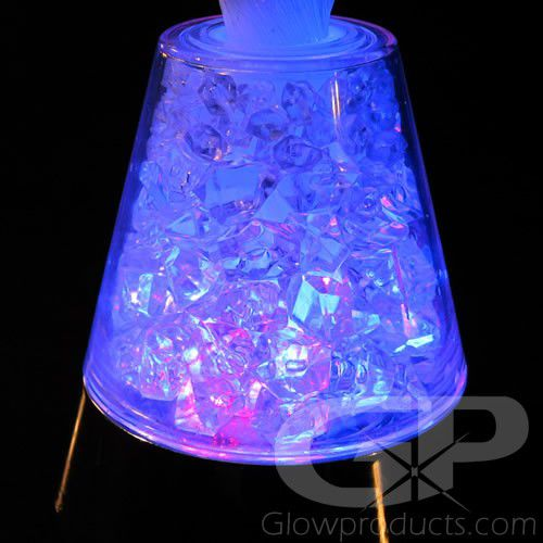 Fiber Optic Lamp With Light Up Crystal Base