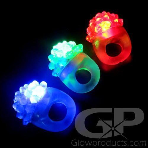 Light Up LED Bubble Finger Rings