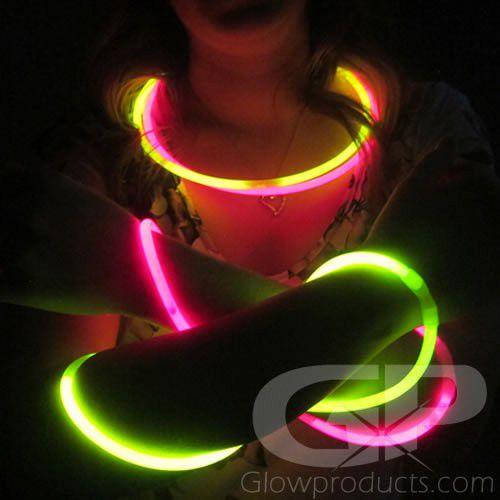 "200 6/"" Premium Thick Party Light Glow Sticks GREEN"