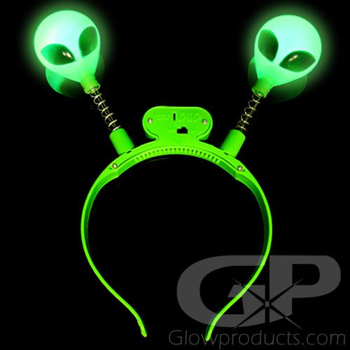 Alien Head Boppers With Glowing Green Led Lights Glowproducts Com The alien head is a weapon found exclusively in dead rising 2: flashing led head boppers alien heads