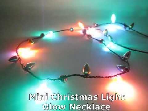 Mini Christmas Lights.Mini Christmas Light Glow Necklaces
