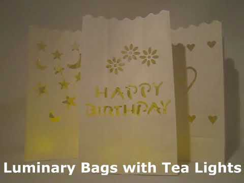 Luminary Bags With Heart Cutouts
