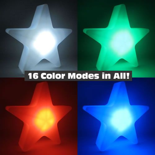 Light Up Centerpiece Star Lamp With 16 Color Modes