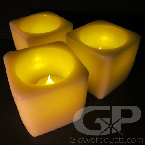 3 Inch Led Flameless Square Candles