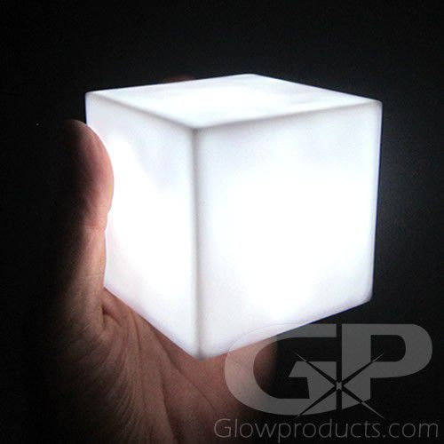 Light Up Decor Cubes With White Led Light Glowproducts Com