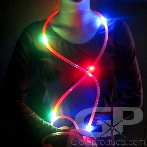 Blue White Light Up Skipping Rope Multi Colour Glow