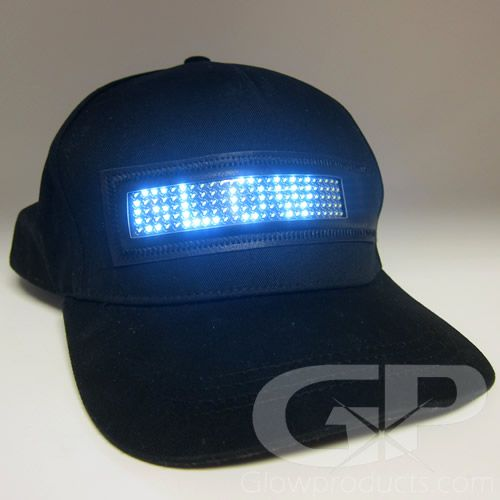 2720d5992e0 Light Up LED Hat with Scrolling Message LED Text