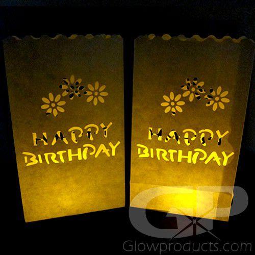 Luminary Bag With Hy Birthday