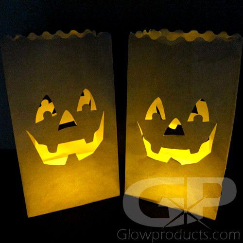 Glowing Luminary Bags With