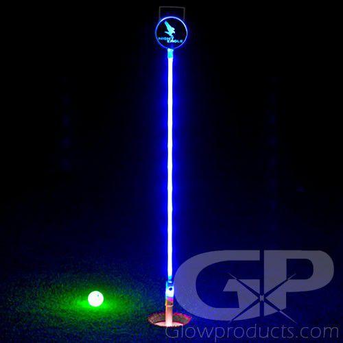 Light Up Led Mini Putt Flag Sticks Glowproducts Com