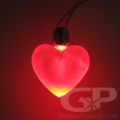 Led Heart Glow Pendants