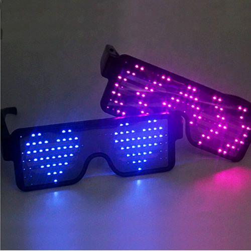 LED Light Up Flashing Blinking Light-Up Sunglasses Glow Party Rave QTY 4 Pair