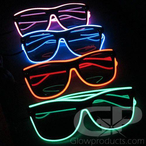 Colorful Rave Glow Party Glasses LED Sunglasses Flashing Light Up