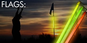 Night Golf Glowing Flags